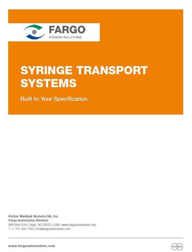 Fargo Automation Syringe Transport Systems